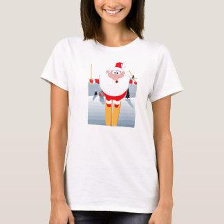 Skiing Santa T-Shirt