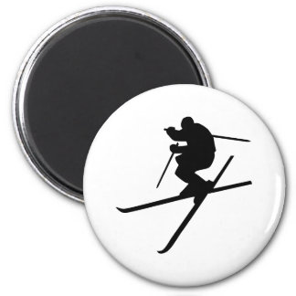 Skiing - Ski Freestyle Magnet