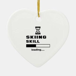 Skiing skill Loading...... Ceramic Ornament
