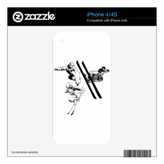 Skiing Decal For iPhone 4S