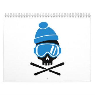 Skiing skull calendar