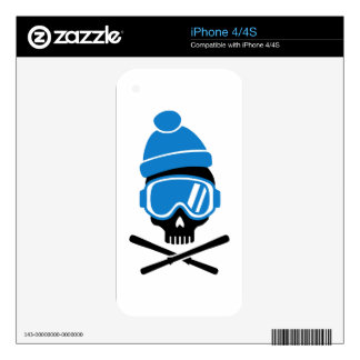 Skiing skull decals for the iPhone 4