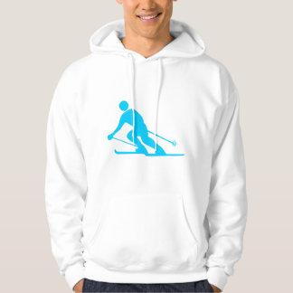 Skiing - Sky Blue Hoodie