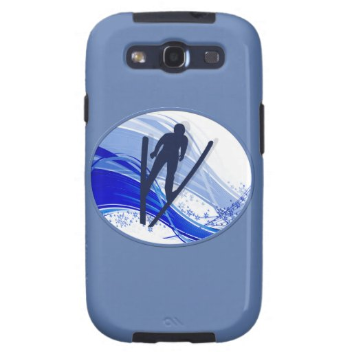 Skiing & Snowflakes Samsung Galaxy S3 Cases