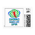 Skiing Spins Postage