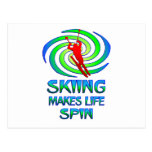 Skiing Spins Postcard