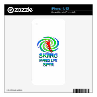 Skiing Spins iPhone 4 Skin