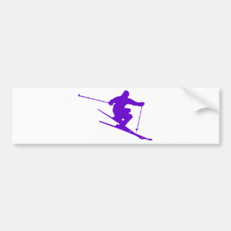 Skiing Sport Design Bumper Sticker