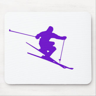 Skiing Sport Design Mouse Pad