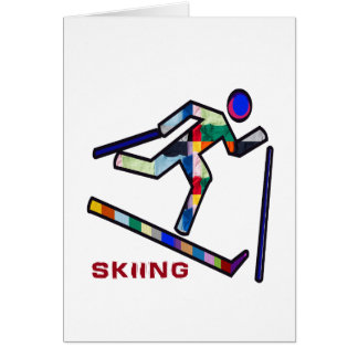 SKIING SPORTS Competition Card