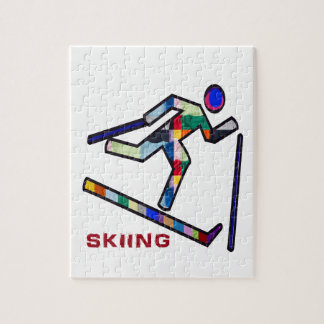 SKIING SPORTS Competition Jigsaw Puzzle