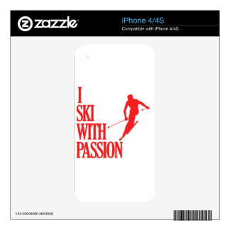 SKIING sports designs Decals For The iPhone 4
