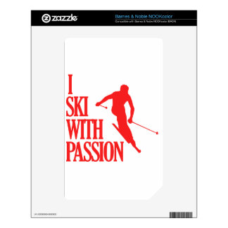 skiing  sports designs decal for NOOK color