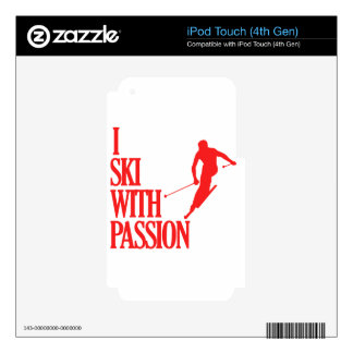 SKIING sports designs iPod Touch 4G Decals