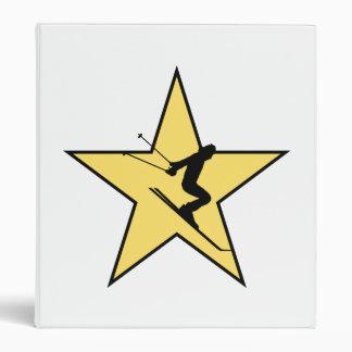 Skiing Star Vinyl Binders