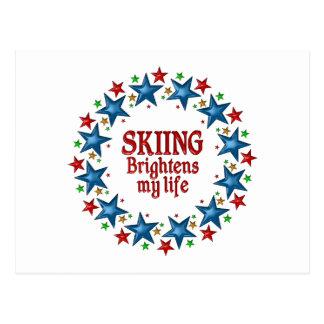 Skiing Stars Postcard