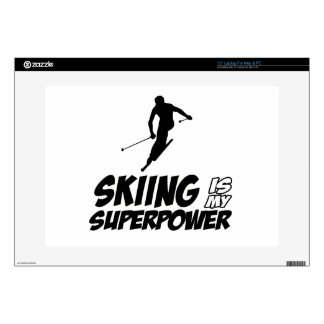 "Skiing Superpower Designs 15"" Laptop Skins"