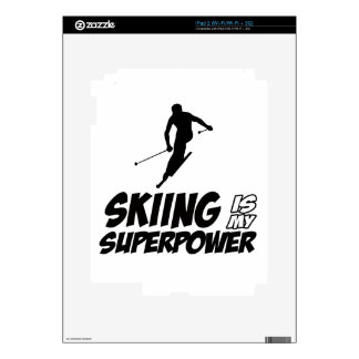 Skiing Superpower Designs Decals For iPad 2