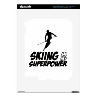 Skiing Superpower Designs Decals For iPad 3