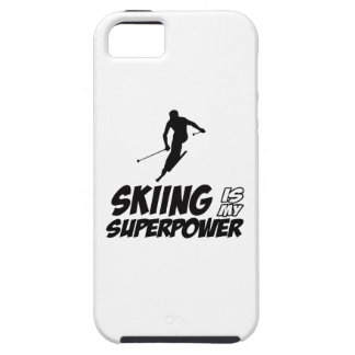 Skiing Superpower Designs iPhone SE/5/5s Case