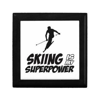 Skiing Superpower Designs Jewelry Box