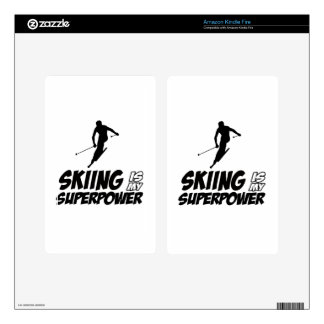 Skiing Superpower Designs Skin For Kindle Fire
