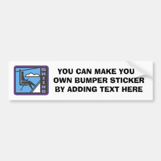 Skiing T-shirts and Gifts Car Bumper Sticker