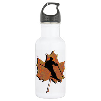 SKIING THE EARTH STAINLESS STEEL WATER BOTTLE