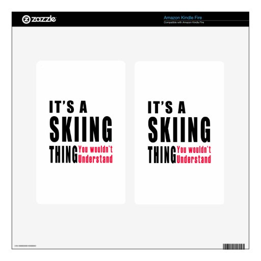 Skiing Thing Designs Decals For Kindle Fire