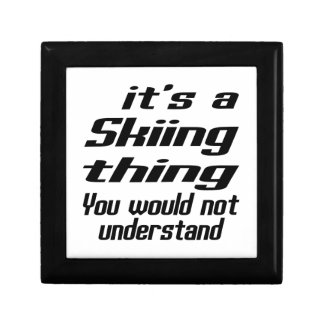 Skiing Thing Designs Gift Boxes