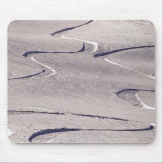 Skiing Tracks Mouse Pad