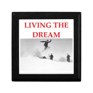skiing trinket box