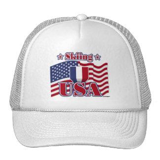 Skiing USA Trucker Hat