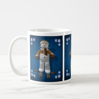 Skiing Vintage Snowman mug