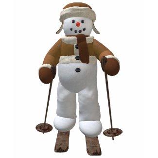 Skiing Vintage Snowman shirt