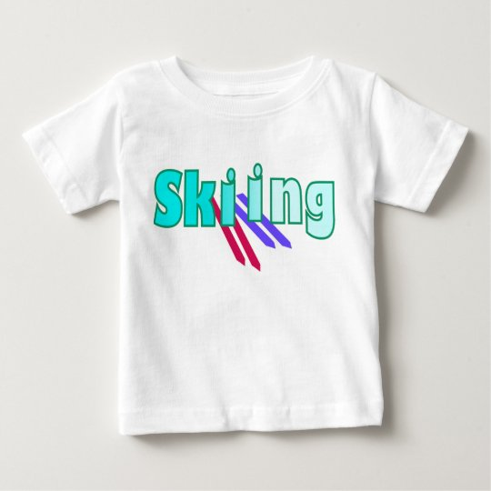 Skiing with Skiers Baby T-Shirt