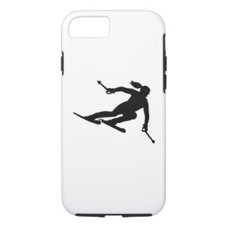 Skiing woman iPhone 7 case