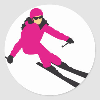 skiing woman