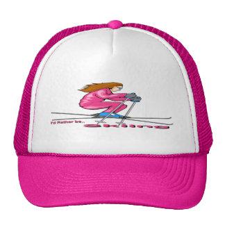 Skiing Woman Trucker Hat