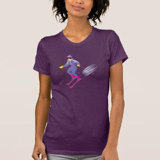 Skiing Womens T-Shirt