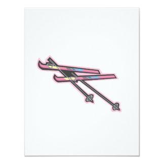 Skiis 4.25x5.5 Paper Invitation Card