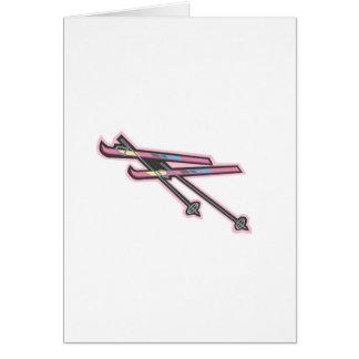 Skiis Greeting Card