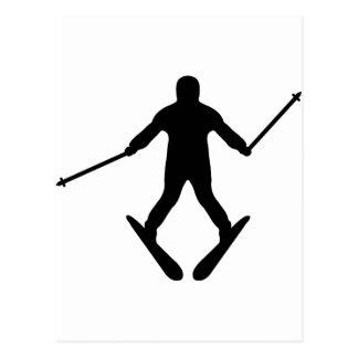 skijump icon postcard