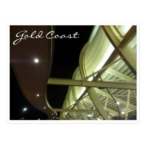skilled stadium night postcard