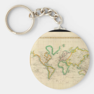 Skilled World Map 37 Keychain