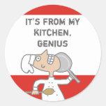 skillet cómico urbano del cocinero que cocina el p