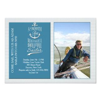 Skillful Sailor Photo Invitation