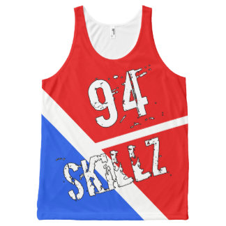 SKILLHAUSE-94 CLIPPER SKILLZ TANK(NO COLOR CHOICE) All-Over PRINT TANK TOP