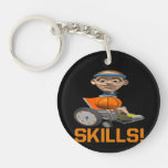 Skills 10 Single-Sided round acrylic keychain