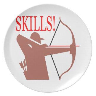 Skills 2 melamine plate
